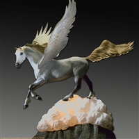 "Pegasus bronze sculpture ""Pegasus, Angel Horse by wildlife sculptor Daniel C. Toledo, Toledo Wildlife Works of Art"