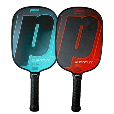 The Quantum Pro Paddle is available in blue or red, and with standard or thin grip options.