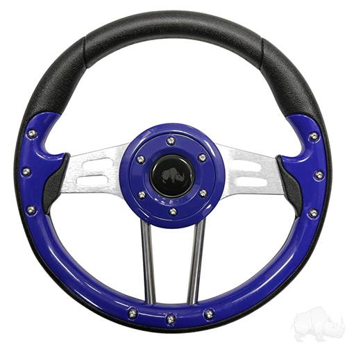 "Aviator 4 Blue Steering Wheel 13"" Diameter"