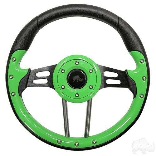 "Aviator 4 Lime Green Steering Wheel 13"" Diameter"