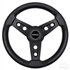 "EZGO Lugana Steering Wheel, Black, 13"" Diameter"