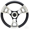"Club Car DS Fontana Steering Wheel, Chrome, 13"" Diameter"