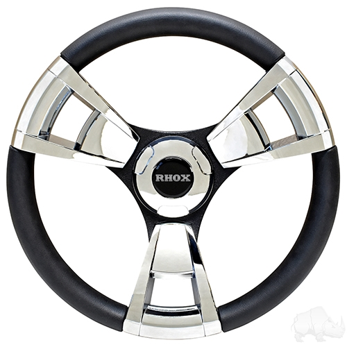 "Club Car Precedent Fontana Steering Wheel, Chrome, 13"" Diameter"