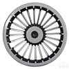 "8"" Turbine Black/Silver Wheel Cover - Set of 4"