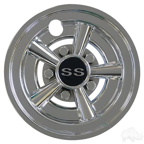 "8"" SS Chrome Wheel Cover  - Set of 4"