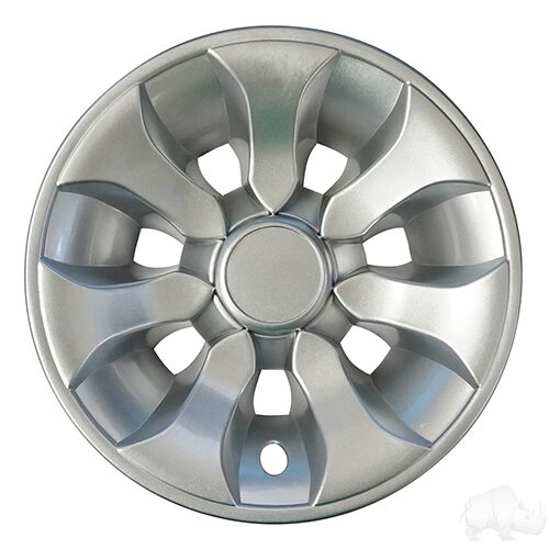 "8"" Driver Silver Wheel Cover  - Set of 4"