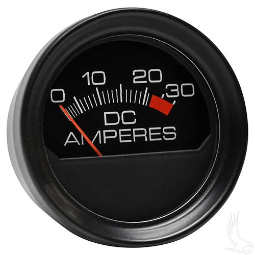 EZGO Chargers Gauge Ammeter 30A Round