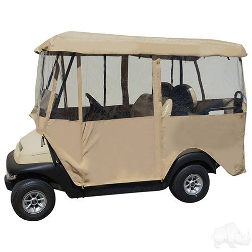 "4 Passenger Deluxe Fabric 4 Sided Enclosure for 80"" Top Golf Carts"