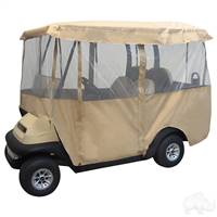 "4 Passenger Deluxe Fabric 4 Sided Enclosure for 88"" Top Golf Carts"