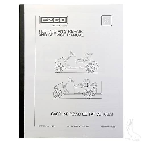 EZGO TXT Gas 1997-1998 Service Manual