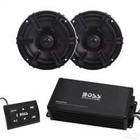 "Bluetooth Audio Package with Boss 4x200 Watt Marine Grade Amp and 5.25"" MB Quart Speakers"