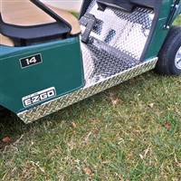 EZGO Medalist/TXT Rocker Panel Set, Diamond Plate