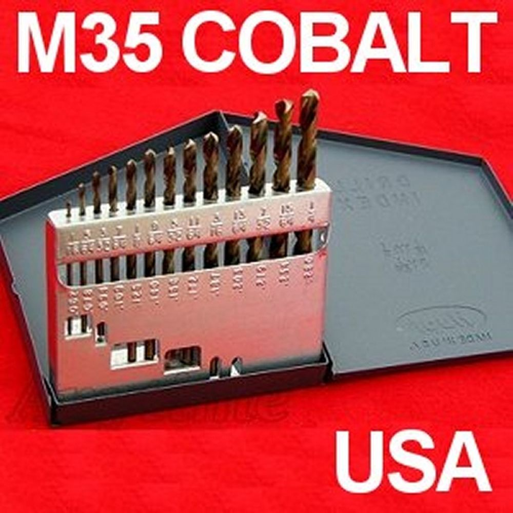 13 pc m35 solid cobalt drill bit set 135 tip usa greentooth Image collections