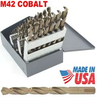 29 pc M42 SOLID COBALT DRILL BIT SET 135° Tip USA