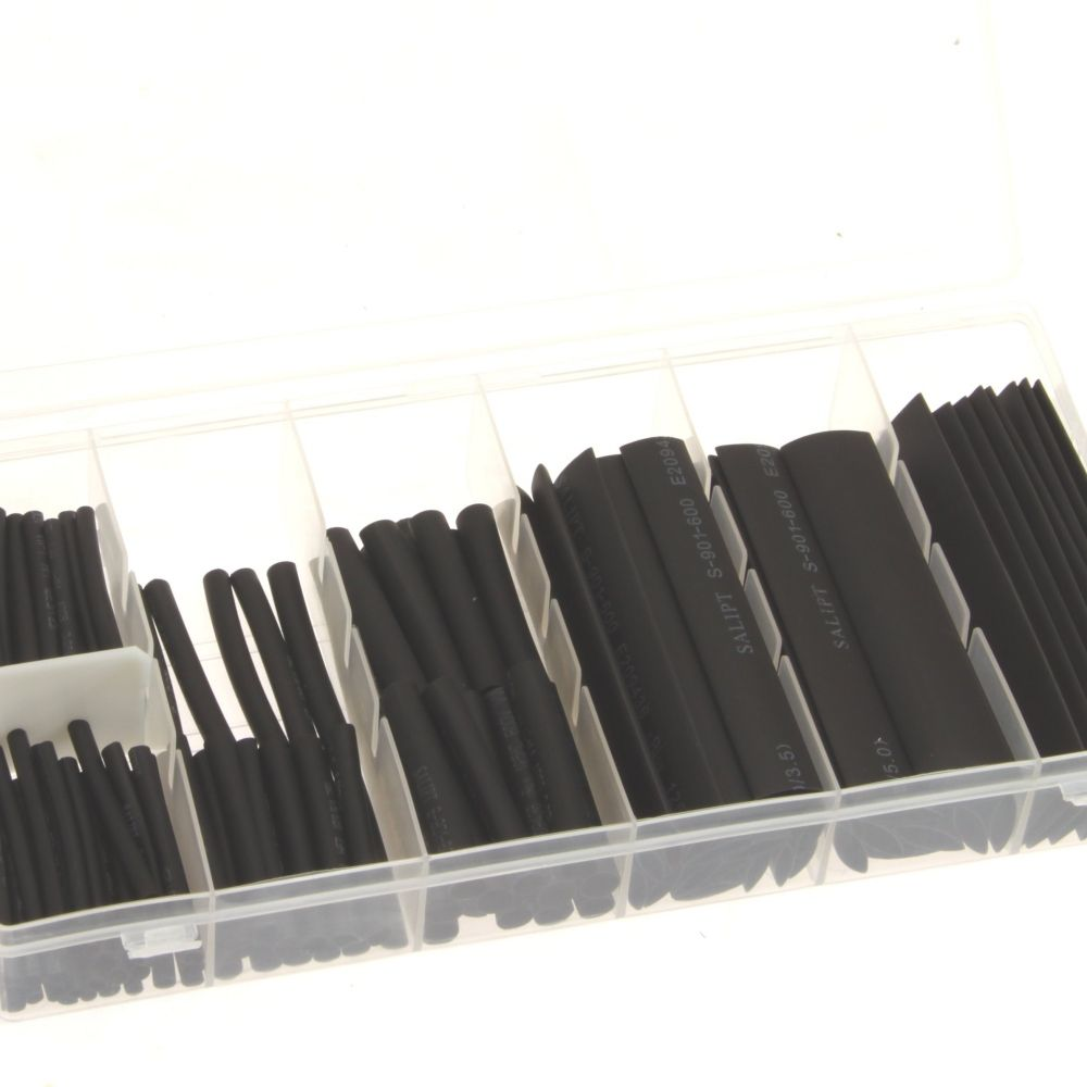 127 pc Heat Shrink Wire Wrap Cable Sleeve Tubing S