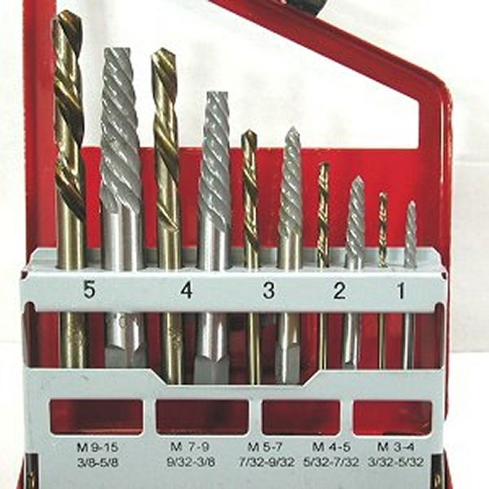 10 piece extractor left hand cobalt drill bit se 10 piece extractor left hand cobalt drill bit set greentooth