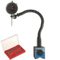 DIAL INDICATOR MAGNETIC BASE FLEXIBLE ARM + POINT SET