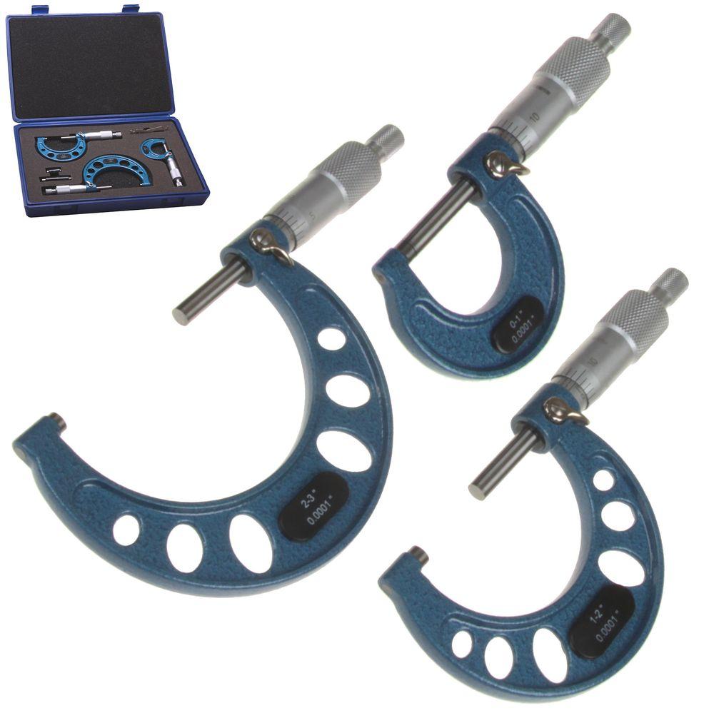 """Outside Micrometer 0-1/""""//0.0001/"""" Premium Precision Carbide Tips"""
