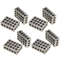 "1-2-3 Blocks Matched Pair Hardened Steel 23 Holes (1""x2""x3"") 123 Set Precision Machinist Milling, 4 Pair"