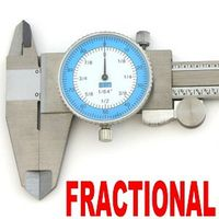 "Dial Caliper Fractional + Decimal 1/64"" Auto Convertion"