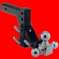 3 BALL SWIVEL ADJUSTABLE TRUCK TRAILER TOW HITCH MOUNT