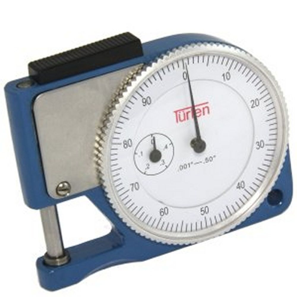paper micrometer An essential gauge for measuring the thickness of paper, board, film, fabric, leather and other materials up to 10mm thick.