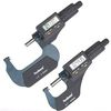 "2 pc 0-1"" & 1-2"" /0.00005"" DIGITAL ELECTRONIC OUTSIDE MICROMETER X-LARGE LCD"
