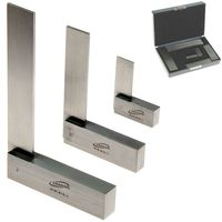 "3 pc Machinist SQUARE SET PRECISION HARDENED STEEL METAL TOOL w/CASE 2"", 4"", 6"""