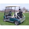 Rear Seat Kit w/ folding seat & folding foot pan, aluminum frame
