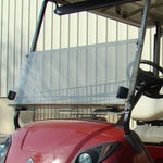 "Yamaha Hinged Windshield, Heavy Duty 1/4"", Tinted"