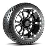 "12"" Fairway Sixer Aluminum Wheel w/ low profile tire - machine"