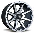 "12"" Rebel Alum. Wheel w/ 225x35-12 Pro Rider Tire"