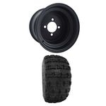 "8x7 Black Steel Wheel (3+4 offset) w/ 18"" X-treme Treads"