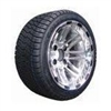 "12"" 8 Split Spoke Alum. Wheel w/ 215x35-12 Low Profile Tires, 1"" offset"