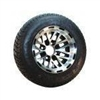 "10"" 8 Split Spoke Wheel, MF Black Accents w/ 205x50-10 Low Profile Tires"