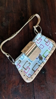 Guess Logo shoulder purse colorful design