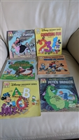 Disney Discovery Series, Disneyland, Walt Disney Books in set of 6 Read Along and Learn.