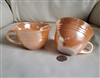 Anchor Hocking Fire King peach lustre teacups