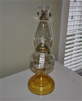 Tall vintage glass Hurricane Lamp with chimney