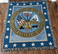 Department of Army Seal USA throw blanket large