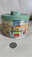 Mrs Lelands tin lidded storage box butter bits