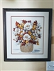 Handmade needlework floral bouquet wall decor art