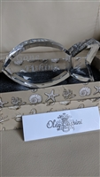 Crystal Fish paperweight by Oleg Cassini in box