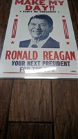 Ronald Reagan campaign sign 1980s
