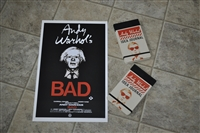 Andy Warhol's poster with notebooks