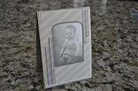 Vintage picture in cardboard frame, baby
