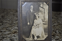 Vintage wedding picture in an elegant frame