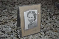 Vintage photo in cardboard frame