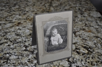 Vintage, framed, baby photo 1940s
