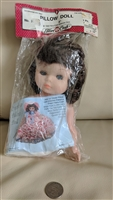 Fibre Craft doll top for Pillow Doll brunette 1988